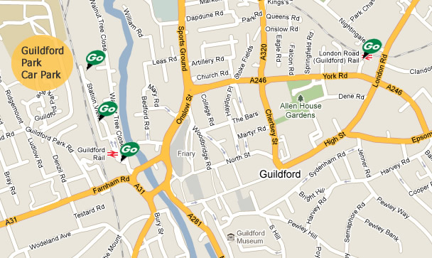 Guildford Parking RingGo locations